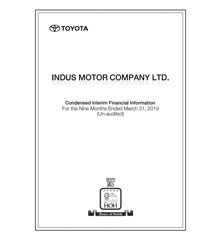 IMC March 2019 final for IMC Website Indus Motor Company Limited