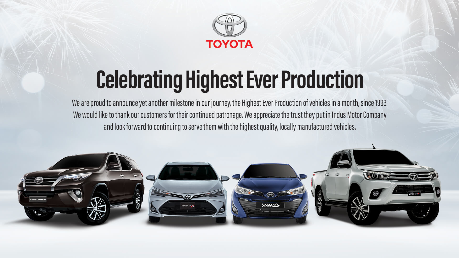 Indus Motor Makes History with Highest Production and Sales